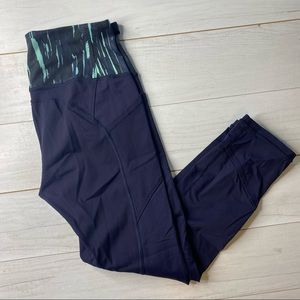 Lululemon All The Right Places Legging Navy Grn 8